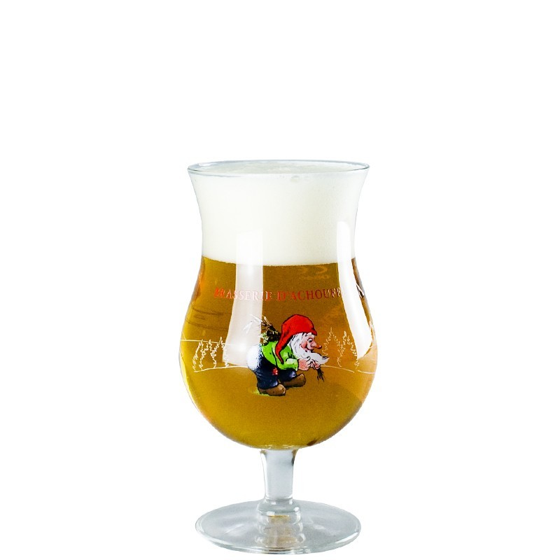 Beer glass Chouffe 25cl - Glass Tulip flared