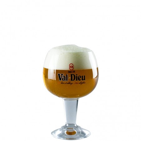 Glass with beer Val Dieu 33 cl - Glass Balloon