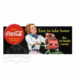 Plaque metal Coca Cola Bleue