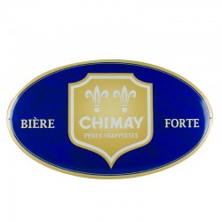 "Metal plate Chimay Beer ""Bière Forte"" (""Strong Beer"")"