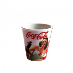 Mini Gobelet Coca Cola Pin Up Blanc
