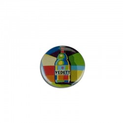 Badge Vedett Beer Colored